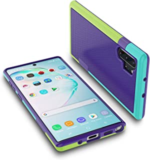 for Galaxy Note 10 Plus Case, Jeylly Shock-Absorption 3 Color Bumper Cover Anti-Slip Rugged Soft TPU Hard PC Armor Protective Case Shell for Samsung Galaxy Note 10+ / Note 10 Plus (6.8 inch) - Purple