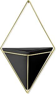 Umbra Trigg Wanddekoration zum Aufhängen, groß Large Black/Brass