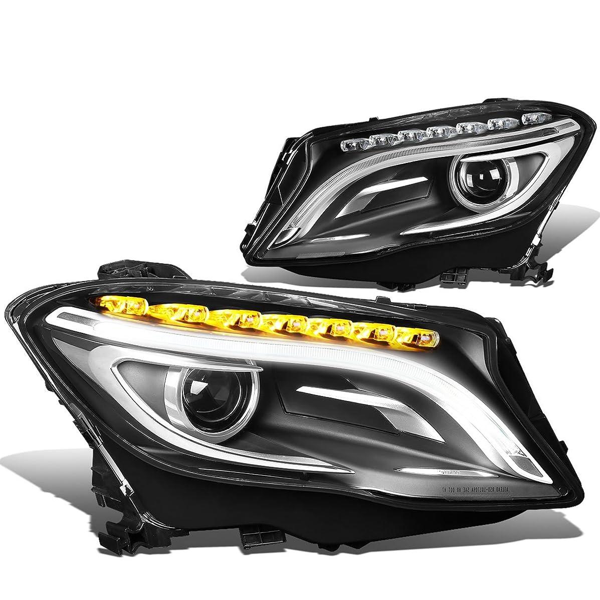 DNA Motoring HL-HPL-GLAX156-CH Pair of Headlight Assembly [14-17 Mercedes GLA-Class]