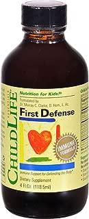 Childlife First Defense - Kids Immune Formula - Gluten Free - 4 fl oz (Pack of 3)