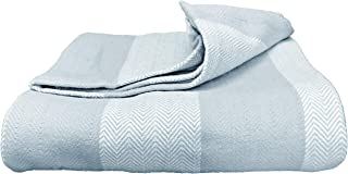 Magnolia Organics Patterned Blanket - Full/Queen, Blue Haze