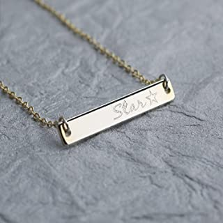 a46cb07291c1e9 ❤️Best Mother's Day Gift❤️A Absolute rate Personalized Your name bar  necklace - Dainty