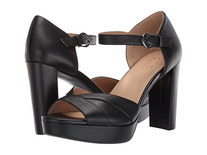 60s Shoes, Boots Naturalizer Malina Black Leather High Heels $67.50 AT vintagedancer.com