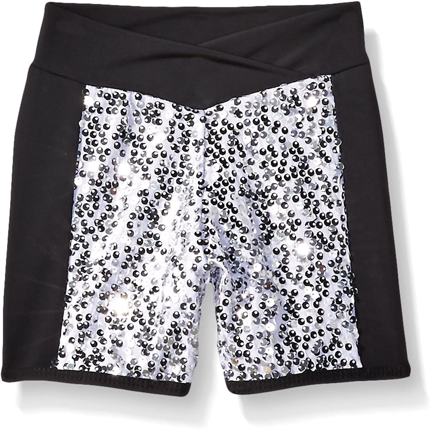 GiaMia Dance Girls' Sequin Blockshort