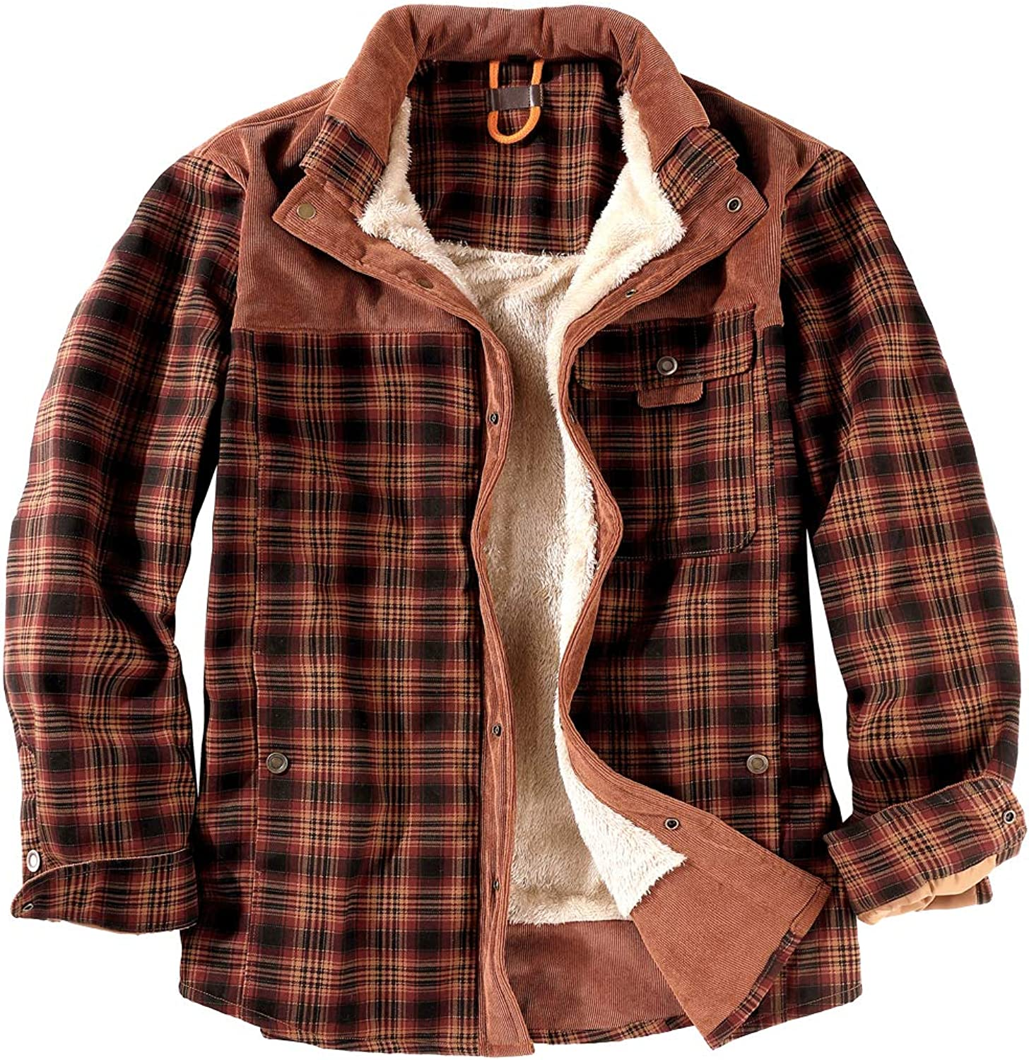 NEWHALL sold out Men's Plaid Long Sleeve Shirt Plus Velvet Buttoned Our shop OFFers the best service Wint