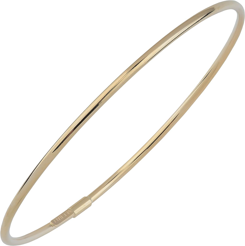 favorite Kooljewelry 10k Gold 2 mm Polish Bangle Dallas Mall Bracelet High