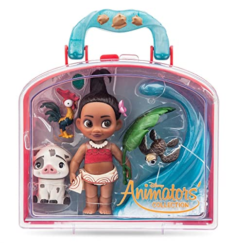 Disney Animators Collection Moana Mini Doll Play Set - 5 Inch