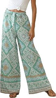 BYSNOW Boho Palazzo Pants for Women Wide Leg Harem Yoga Culottes Pants