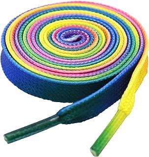 round rainbow laces