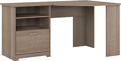 Bush Furniture Cabot Corner Desk with Storage, 60W, Ash Gray