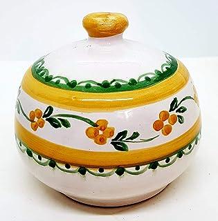 Nascondispugna Linea Classica Fiori Arancio per Cucina e Bagno Handmade Le Ceramiche del Castello 100% Made in Italy