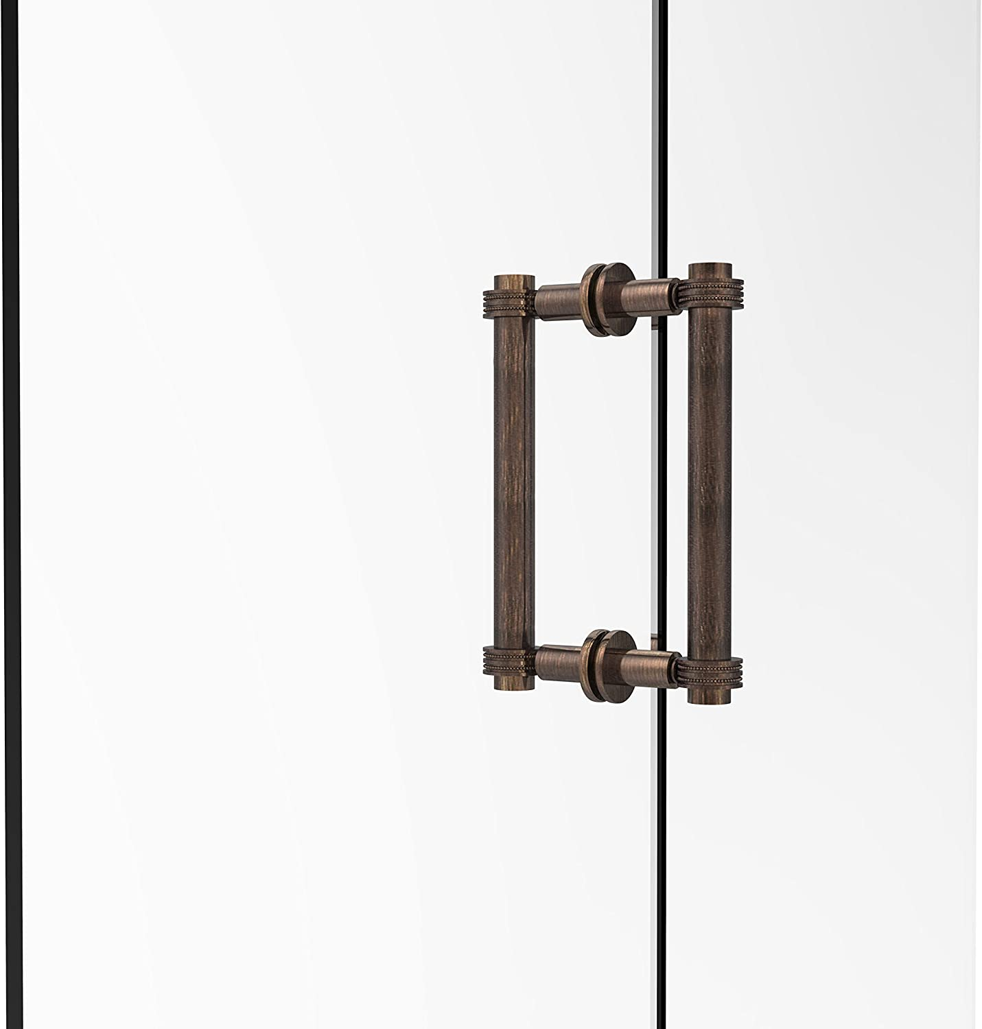 Allied Brass 404D-8BB-VB Contemporary 8  Back To Back Shower Door Pull with Dotted Accent,