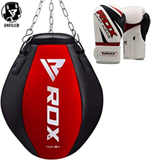 RDX MMA Uppercut Wrecking Ball Punch Bag Boxing UNFILLED Heavy Kickboxing Grappling Muay Thai Sparring Training Gloves Hanging Chain