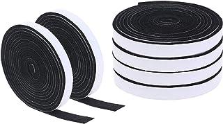 Xgood 59.1 Feet BBQ Gasket Smoker Grill Tape High Temp Grill Seal Tape Black Self Stick Gasket 1/8 Inch Thickness,0.5 Inch...