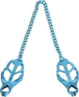 Adjustable Necklace multiple Color Butterfly Design stainless steel clip chain,body massage tool with clamps