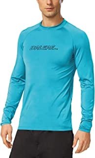 Baleaf Men's Long Sleeve Rashguard Sun Protective Swim Shirt UPF 50+