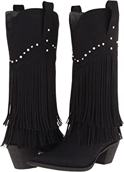 "12"" Stud and Fringe Boot"