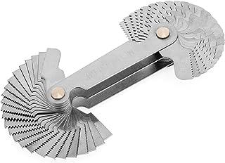 OriGlam - Herramienta de medición de rosca métrica en acero inoxidable, 55 grados, 60 grados de agarre, calibre de rosca de Whitworth