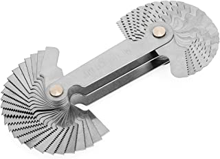 【The Best Deal】OriGlam Screw Thread Pitch Cutting Gauge Tool, Stainless Steel Metric Screw Pitc