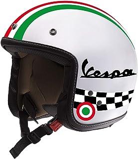 Adesivi per Casco Kit VESPA - Nero Rosso Blu Giallo Arancione - Strisce Italia Cerchio Bandiera Scacchi Helmet VINILE LUCI...