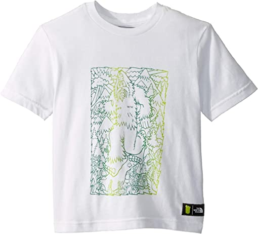 TNF White/Botanical Garden Green