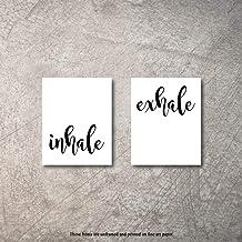 "Inhale Exhale Zen Home Decor Art Prints 2 8""x10"" UNFRAMED Paper Meditation or.."