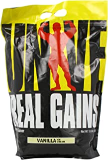 Real Gains Weight Gainer with Complex Carbs and Whey-Micellar Casein Protein Matrix Vanilla 10.6#