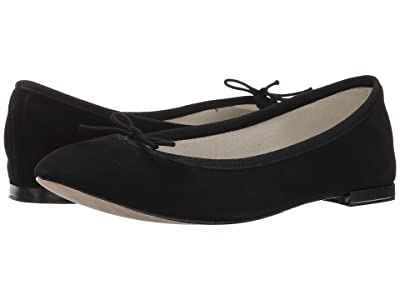 Repetto Cendrillon Suede Leather (Noir (Black Suede)) Women