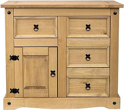 Vida Designs Petit Buffet avec Porte et 4 tiroirs, Taille du Produit: H 76 x L 86 x P 40 Cm Env