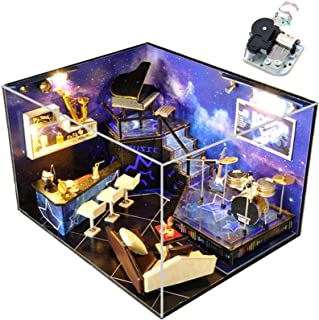 Luxurious DIY House Hand-Assembled Make House Model 3D Dollhouse Kit Creative Birthday, Christmas, New Year Gifts Wooden M...