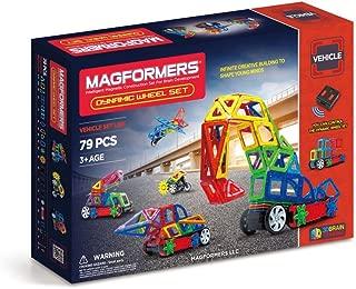 Magformers Vehicles Dynamic Wheel Set (79-piece) Magnetic Building Blocks, Educational Magnetic Tiles Kit , Magnetic Construction STEM Set includes wheels