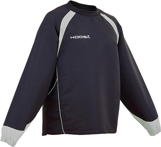 Kooga Vortex II - Maillot de sport à hommeches longues - Enfant (S) (Noir gris)