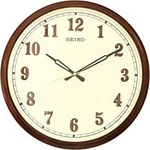 Seiko Wall Clock (40.7 cm x 40.7 cm x 6.5 cm, Brown, QXA632BN)