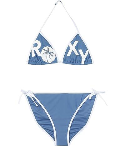 Roxy Kids Perfect Surf Time Set Tiki Tri Swimsuit (Big Kids) (Moonlight Blue) Girl