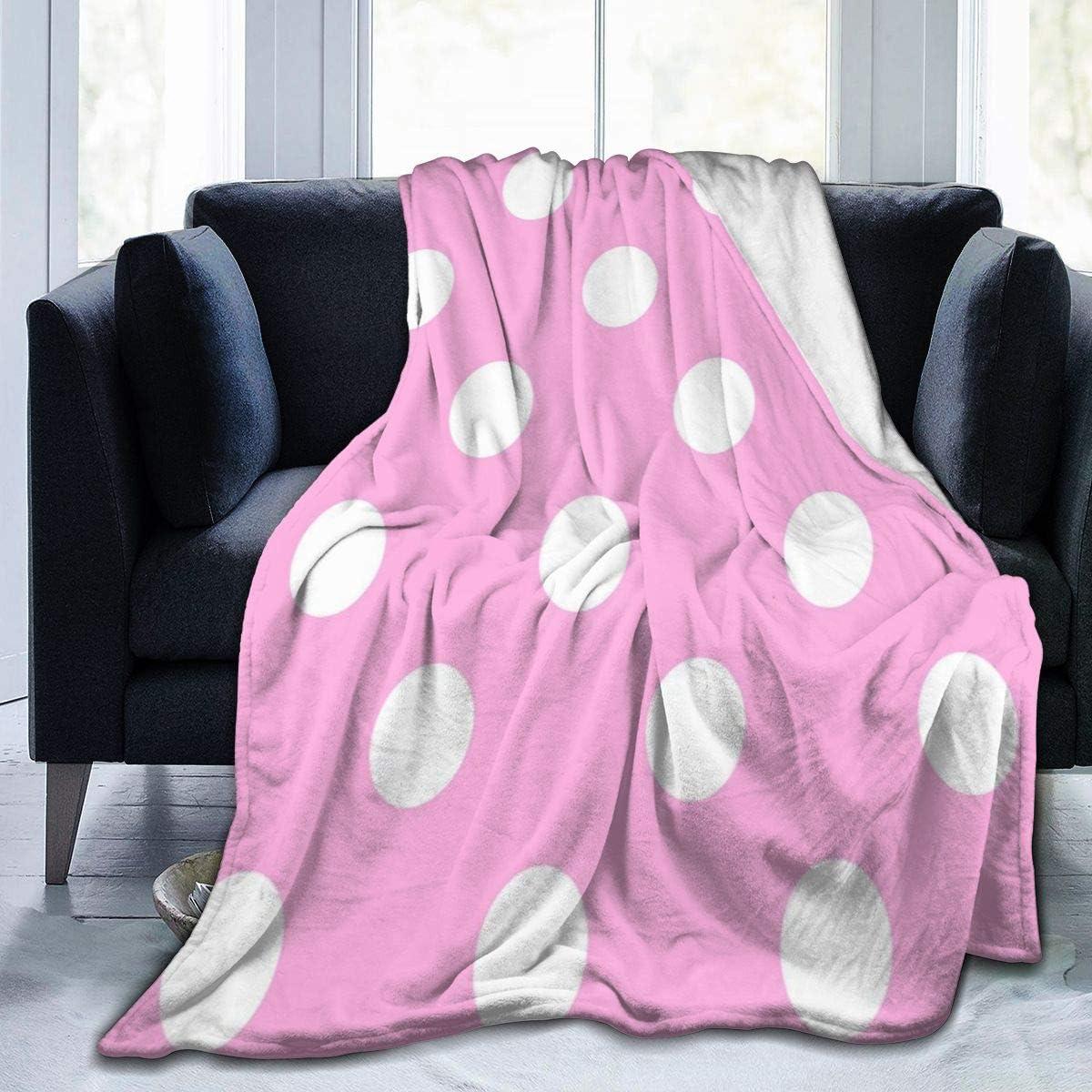 Pink /& White Polka Dot Comfort Blanket