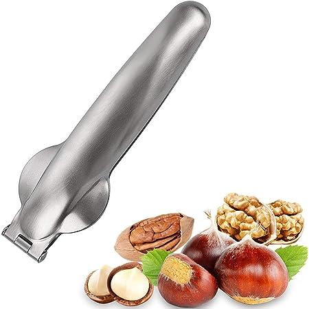 Stainless Steel Dried Fruit Opener for Kitchen Kitchen Tools Multifunctional Chestnut Opener Nut Walnut 1 Pack Nutcracker Chestnut Clip,304 Stainless Steel Nut Cracker Sheller Walnut Pliers