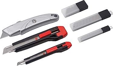 Werkzeyt Universele messenset 33-delig - universeel mes (18 mm en 9 mm) - met reservemesjes - voor het snijden van alle ma...