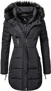 bdbf2f5dca Marikoo Moonshine Manteau d'hiver pour Femme matelassé Long avec Un Large 6  Couleurs XS