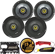 $139 » Kicker 46CSC654 CS Series Coaxial Speakers 2-Pairs Bundle with Kicker Swag Bag. 6.5 Inch 2-Way EVC Speakers, 100 Watt RMS,...