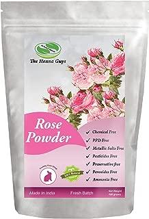 Rose Powder - 100% Pure & Natural Rose powder, Use as Face mask, Anti-aging mask, Hair mask, Multi-Purpose Use.