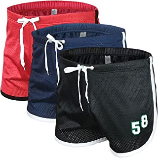 Men's Running Workout Shorts Mesh Bodybuilding Gym Fitness Training Short Pants
