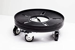 """Slim Keg 11"""" Sturdy Dolly - Inexpensive and Easy Way to Move Sixtel and Quarter Slim Kegs and Small Heavy Pots - Great for Transporting Slim Kegs from Walk-in to Keg Fridge at Bar"""