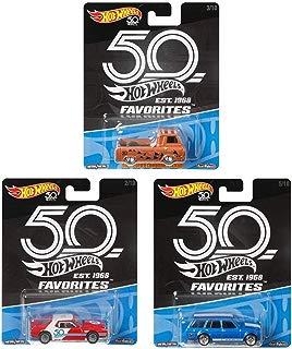 Coleção Favoritos Do Colecionador Com 03 Hot Wheels 50 Anos - Mattel Flf35