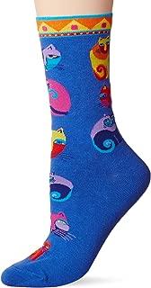 Laurel Burch womens 902 Cat Crew Socks Casual Sock