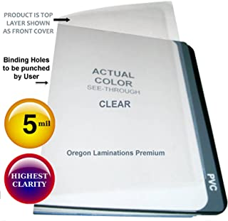 Legal Clear Plastic Report Covers 5 Mil 8-1/2 x 14 Qty 100 Binding Sheets