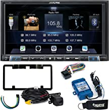 Alpine iLX-207 Apple CarPlay & Android Auto Receiver W/ Alpine Rear View Camera, Steering Wheel Interface, Trigger Mod