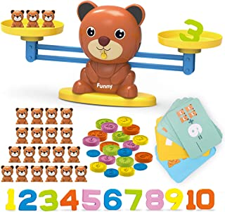 Kaekid Toys for 3 4 5 6 7 8 Year Olds Boys Girls, Bear Balance Game Toy, Educational Learning Counting Number Math Toy wit...