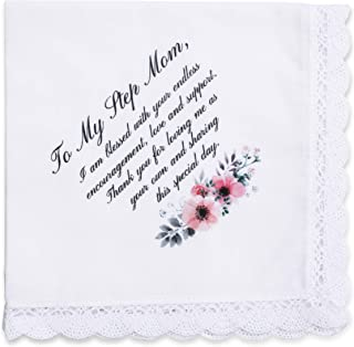 Wedding Handkerchief Gift for Bride Groom Mom Dad Grand New Step Parents Friends