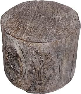 Benjara, Brown Benzara BM158297 Antique Tree Stump Cement Stool
