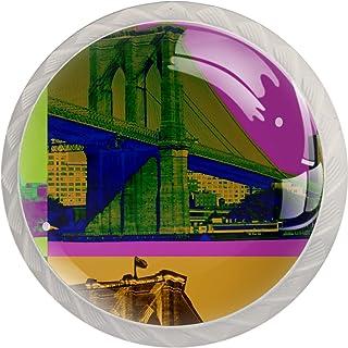 Brooklyn Bridge - Tirador de cristal para armario y armario